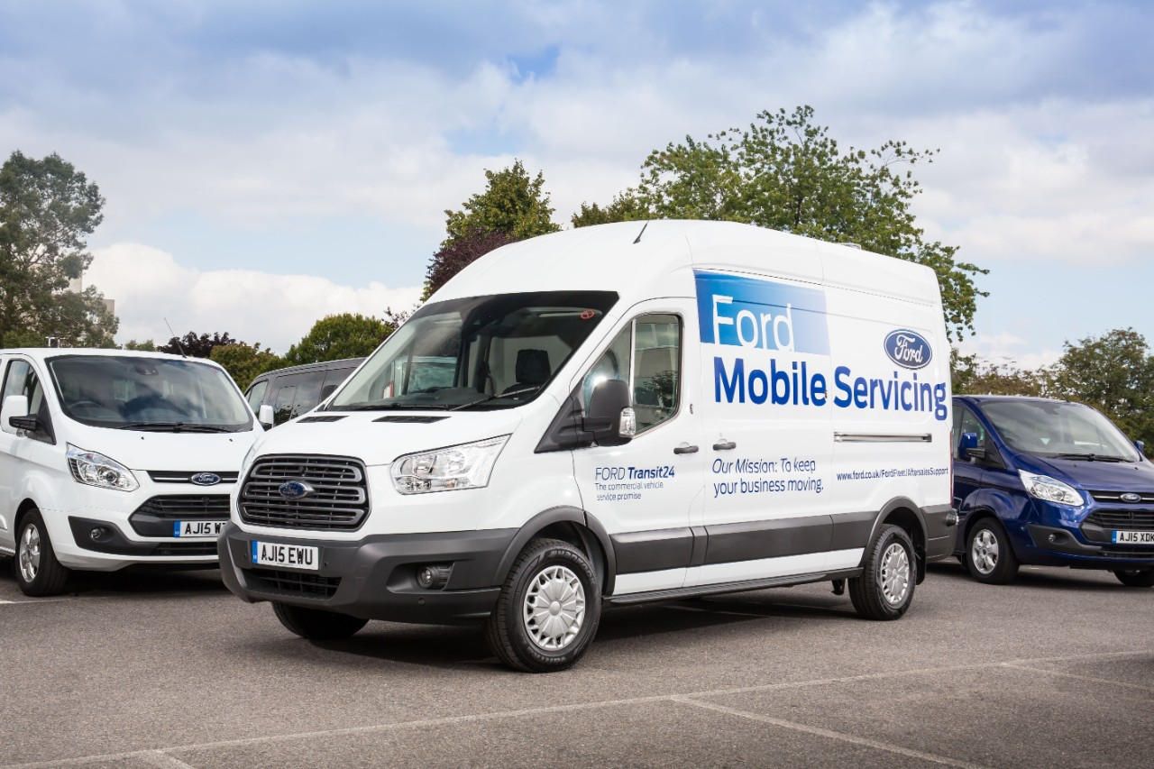 Ford Mobile Servicing reduces disruption for fleet operators by carrying out work on-site