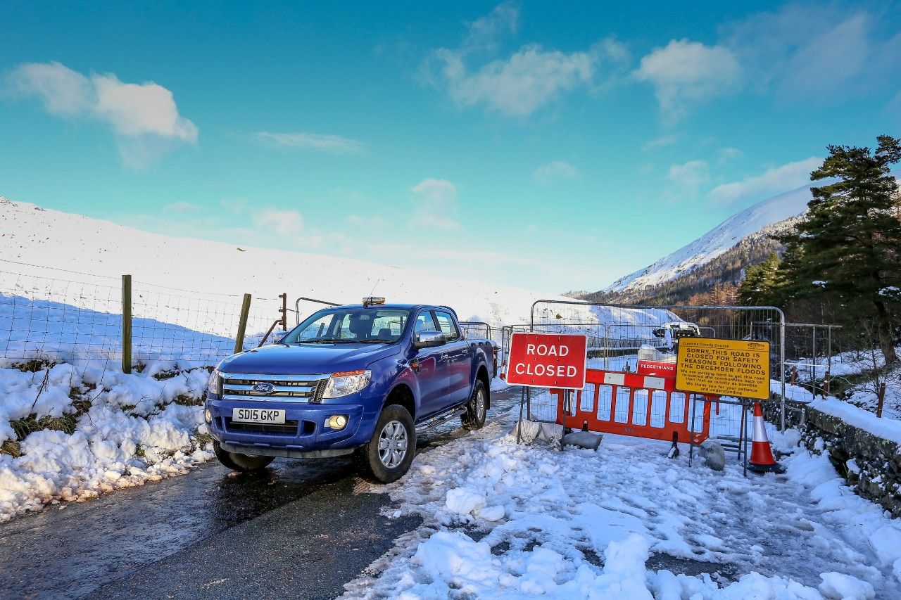 Ford Ranger 4x4s were deployed to help the York and Cumbria Councils