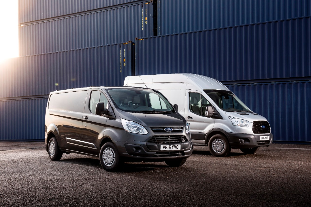 Ford Transit and Ford Transit Custom are first and second in CV sales