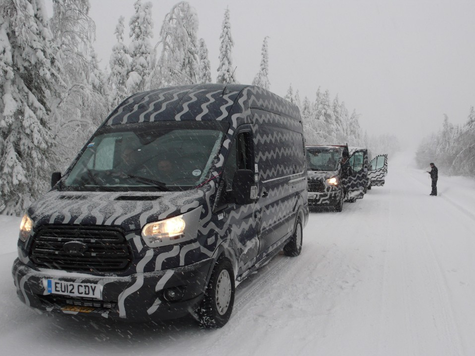 Ford Transit Undertaking Winter Testing