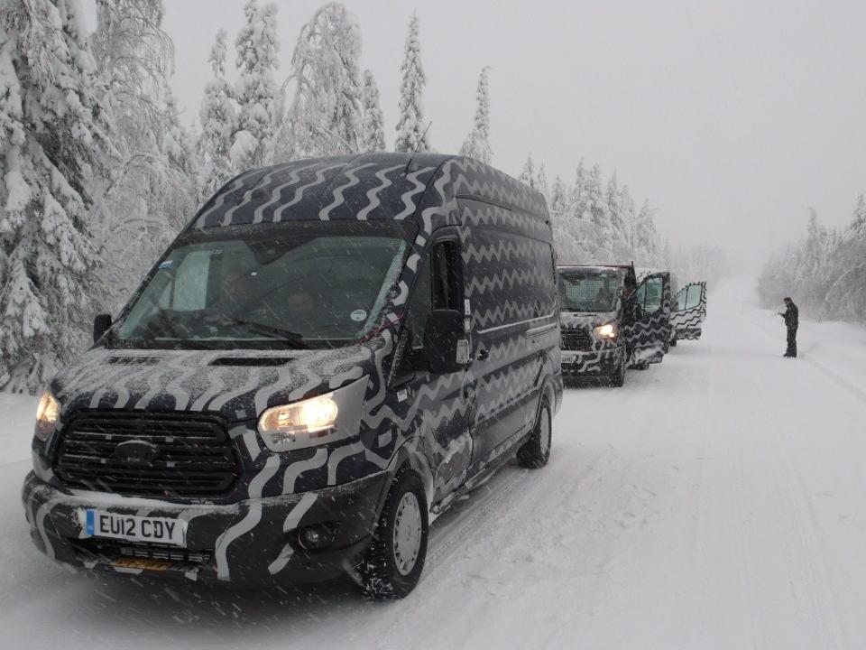 Ford Transit Undertaking Winter Testing