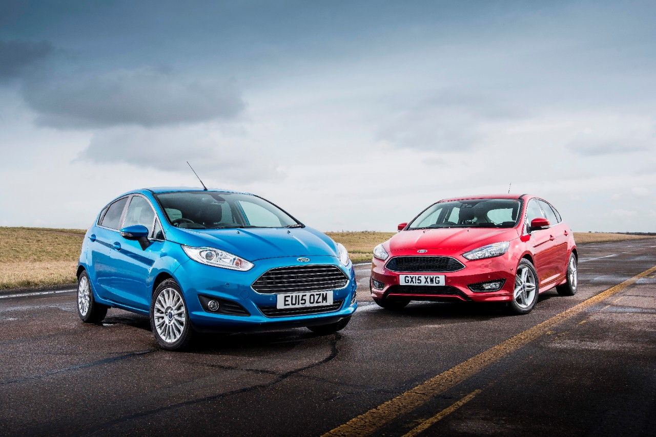 Ford's Fiesta and Focus were first and second in UK car sales in April