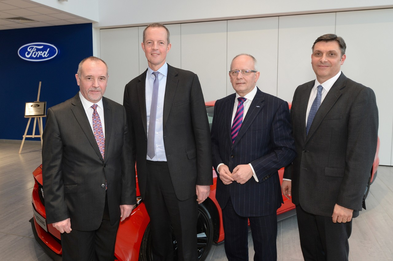 From left Andy Blaber Nick Boles Andy Barratt Stuart Harris at Academy Opening