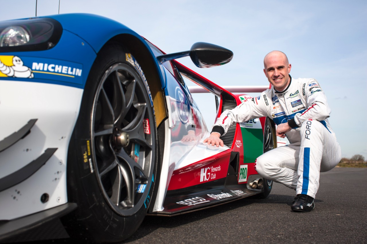 Marino Franchitti and the Ford GT with new IHG branding