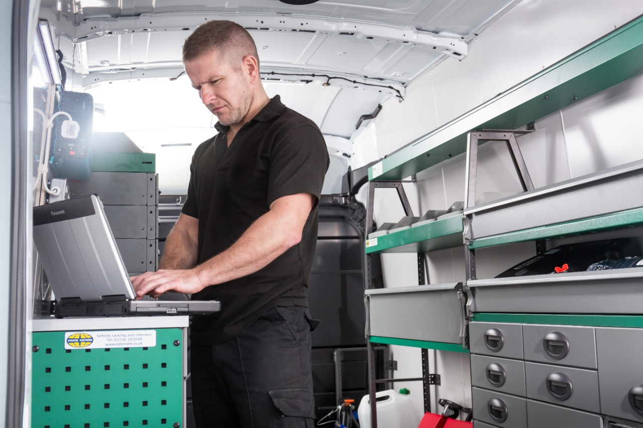 Mobile servicing vans carry all the necessary tooling and diagnostic equipment to carry out a full service